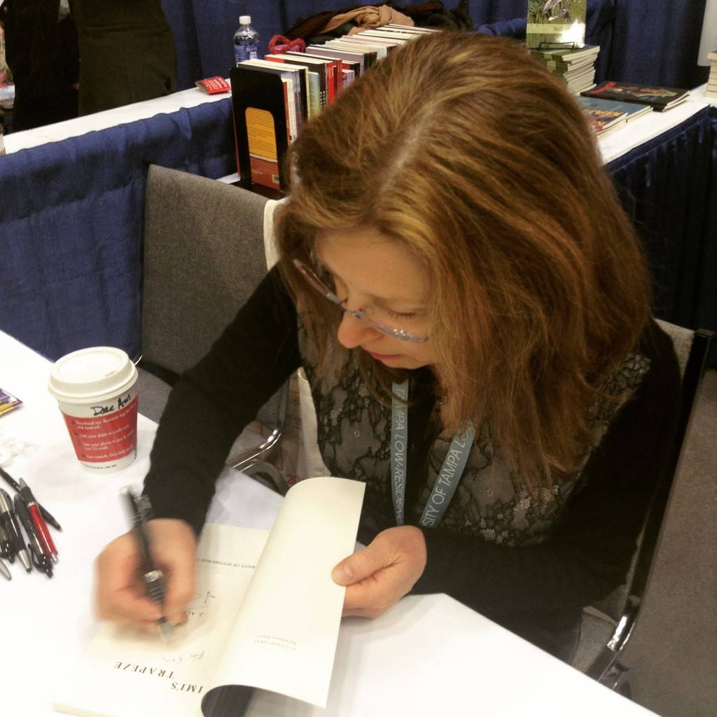 "J. Allyn Rosser signing ""Mimi's Trapeze"""