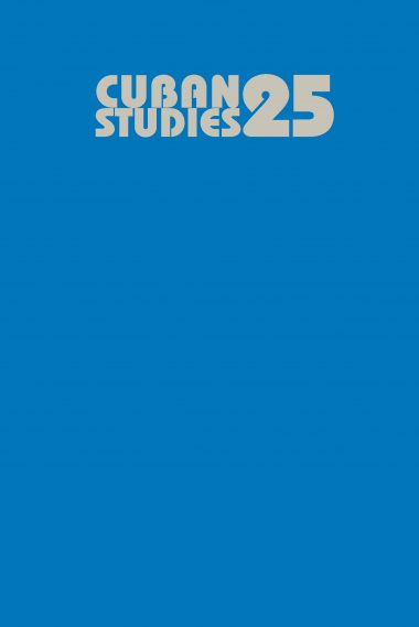 Cuban Studies 25