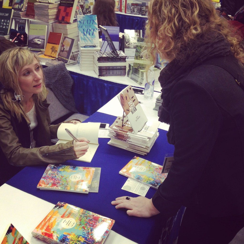 "Beth Bachmann signing ""Do Not Rise"""