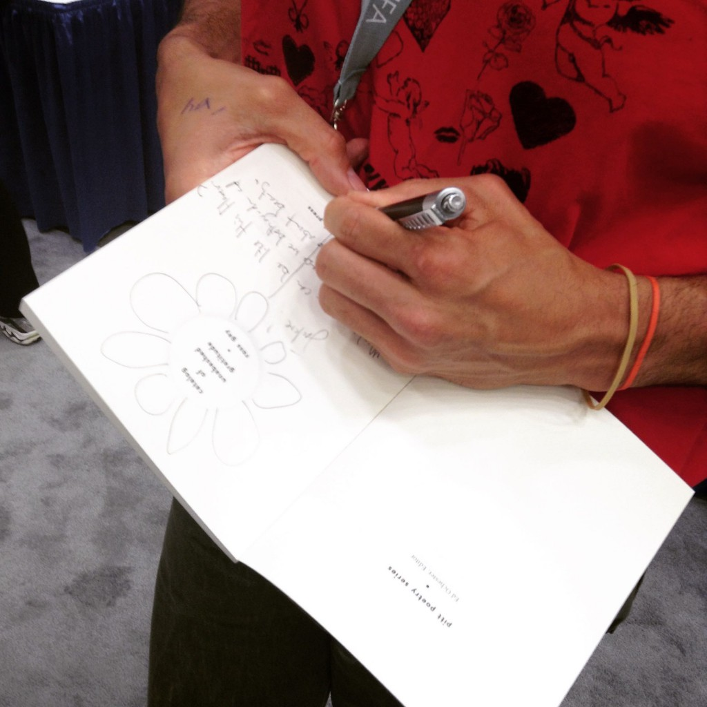 "Ross Gay signing ""Catalog of Unabashed Gratitude"""