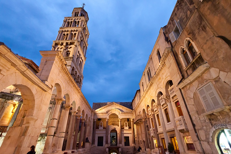 Peristyle, Diocletian's Palace, Split. Photo by Ballota